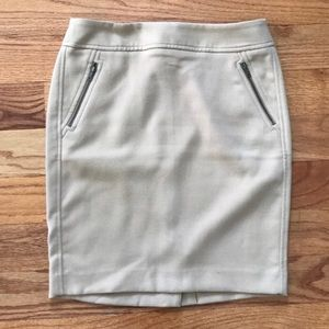 loft tan pencil skirt size 2p